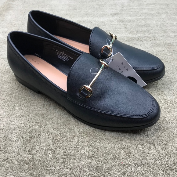 6efde0886 a new day Shoes | Black Jelena Loafers Womens 8 Gold | Poshmark